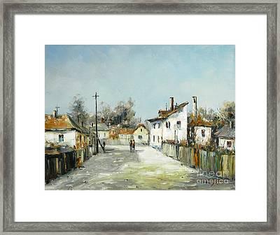 Village Lane Framed Print by Petrica Sincu