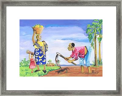 Village Life In Cameroon 01 Framed Print by Emmanuel Baliyanga