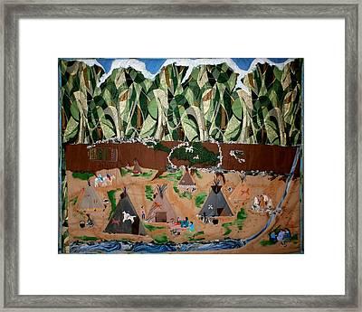 Village Life Framed Print by Linda Egland