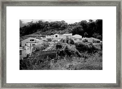Village Nestled In The Hills  Framed Print