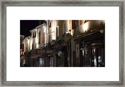 Village Nightscape Framed Print