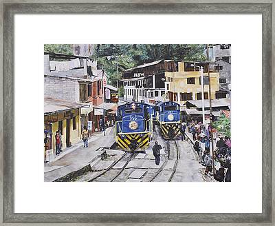 Village Of Aquas Calientes Framed Print