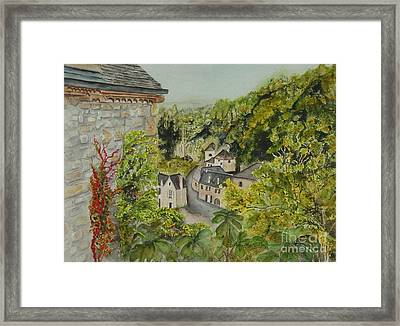 Village Of Beynac France Framed Print