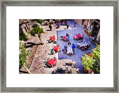 Village Of Chios Framed Print by Emmanouil Klimis