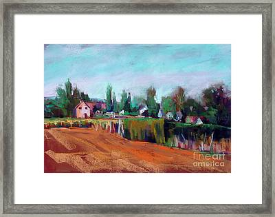 Village Of Fontain Forche Framed Print by Virginia Dauth