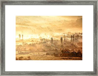 Village Of Gold Framed Print by Evgeni Dinev
