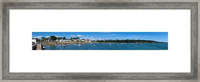 Village Of Larmor-baden, Gulf Of Framed Print