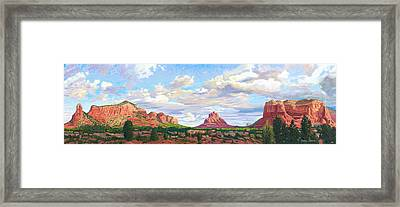 Village Of Oak Creek - Sedona Framed Print by Steve Simon