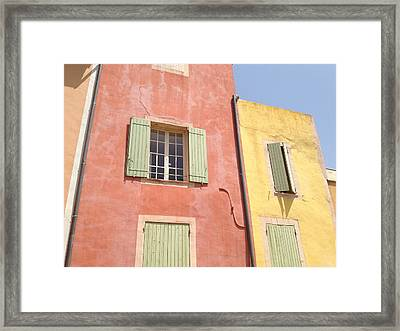 Village Of Roussillon France Framed Print by Pema Hou