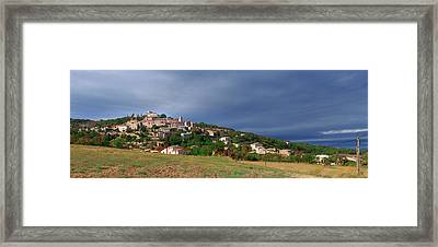 Village Of Simiane-la-rotonde Framed Print by Panoramic Images