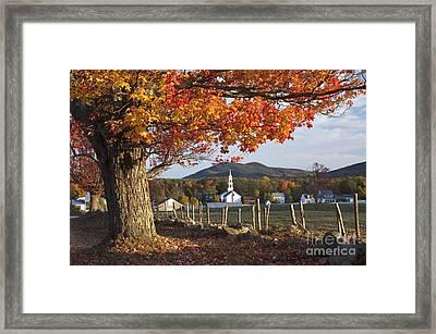 Village Of Tamworth - D000359 Framed Print by Daniel Dempster