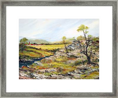 Village Of The Valley Framed Print by Dorothy Maier