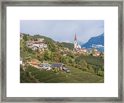 Village Of Unterinn (auna Di Sotto Framed Print