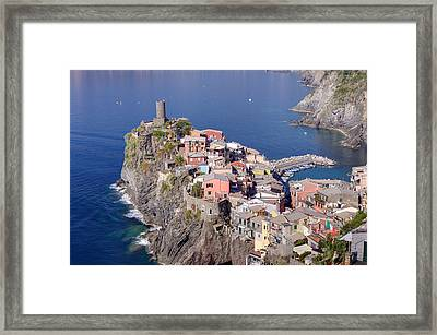 village of Vernazza Framed Print by Ioan Panaite