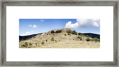 Village On Mountain, Ballestar Framed Print by Panoramic Images