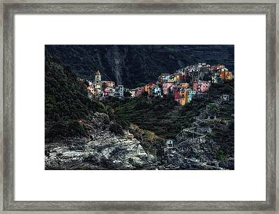 Village  -on The Rocks- Framed Print