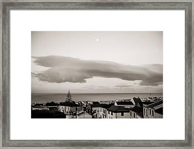 Village Rooftops At Sunrise Framed Print