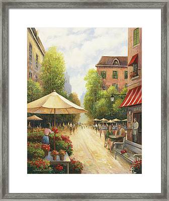 Village Scene Framed Print by John Zaccheo