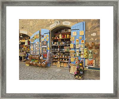 Village Shop Display Framed Print by Pema Hou