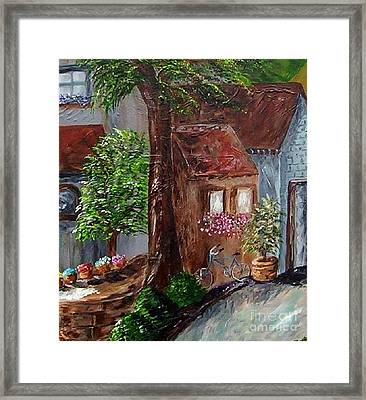 Village Shoppes Framed Print by Eloise Schneider
