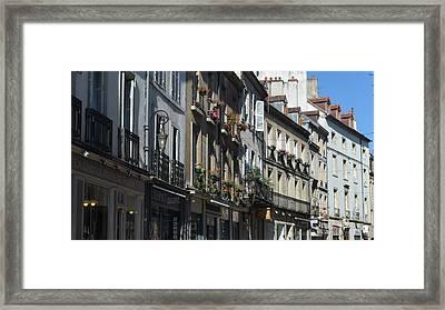 Village Shops Framed Print