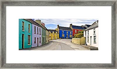 Framed Print featuring the photograph Village Street by Jane McIlroy