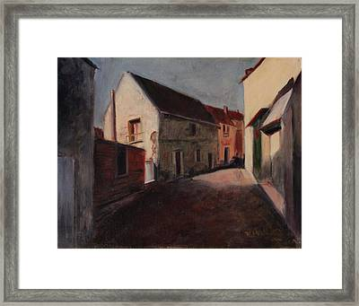 Village Street Framed Print