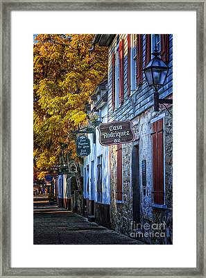 Village Streets Framed Print