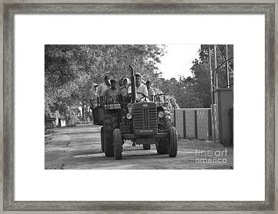 Village Tractor  Framed Print by Bobby Mandal