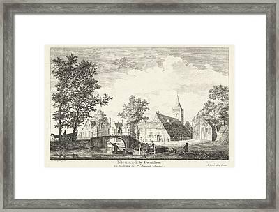 Village View Of Nieuwland, The Netherlands Framed Print