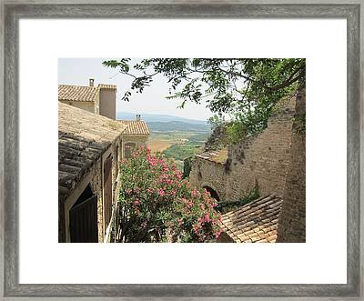Framed Print featuring the photograph Village Vista by Pema Hou