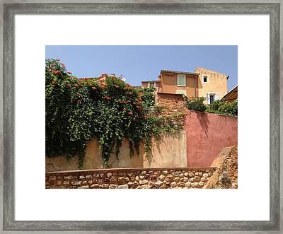 Village Vista Roussillon France Framed Print by Pema Hou