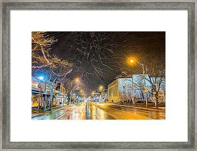 Village Winter Dream Framed Print by Chris Bordeleau