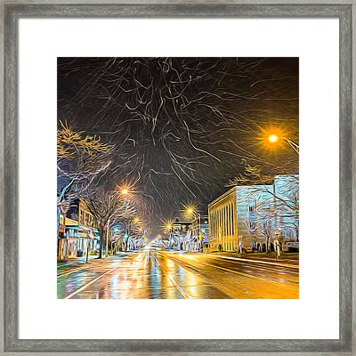 Village Winter Dream - Square Framed Print