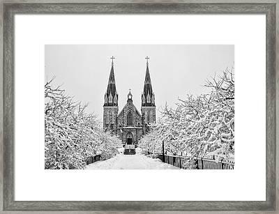 Villanova Cathedral - Winter  Framed Print by Bill Cannon