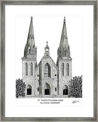 Villanova University Framed Print by Frederic Kohli