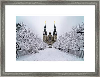 Villanova University In The Snow Framed Print