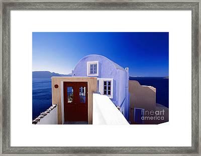 Villas Overlooking The Aegean Sea Framed Print