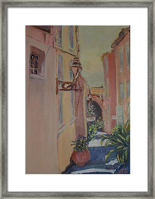 Framed Print featuring the painting Ville Franche by Julie Todd-Cundiff