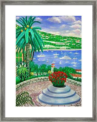 Villefranche Sur Mer---cote-d'azur Framed Print by Ronald Haber