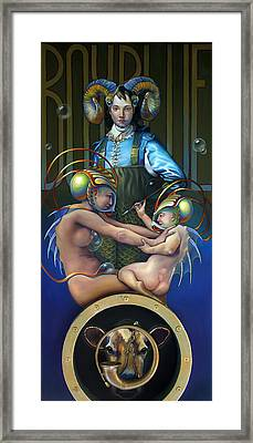 Villeroy Bleu Framed Print