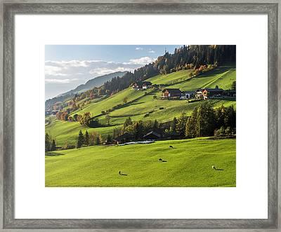 Villnoess Valley (val De Funes Framed Print by Martin Zwick