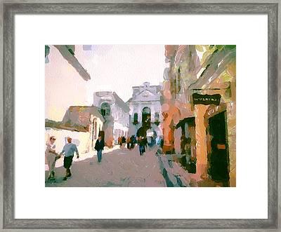 Vilnius Old Town 10 Framed Print by Yury Malkov