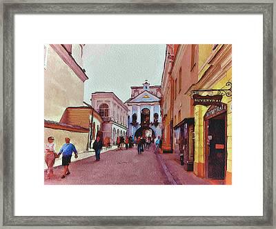 Vilnius Old Town 13 Framed Print by Yury Malkov
