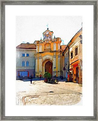 Vilnius Old Town 33 Framed Print by Yury Malkov