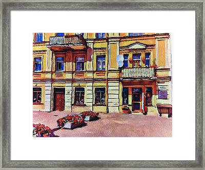 Vilnius Old Town Architecture Framed Print by Yury Malkov