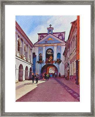 Vilnius Old Town Golden Gate 1 Framed Print by Yury Malkov