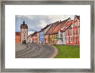 Vilseck Marktplatz Framed Print