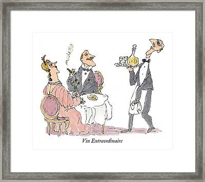 Vin Extraordinaire Framed Print by William Steig