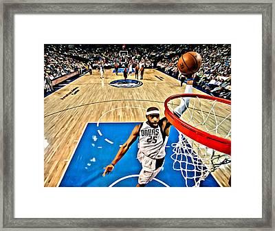 Vince Carter Dunking Framed Print